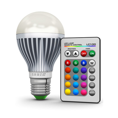 9W LED RGB Color Changing Light Bulb